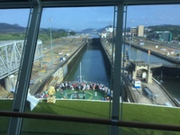 Transit of the Panama Canal from the Constellation Lounge. PA volume was a