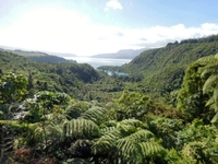 Lake Tarawera, near Rotorua, taken from the lookout between the Buried Vill
