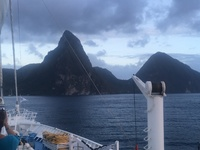 You won't come this close to the pietons in St. Lucia on a large line.