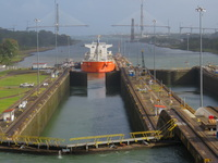 Panama Canal from aft balcony