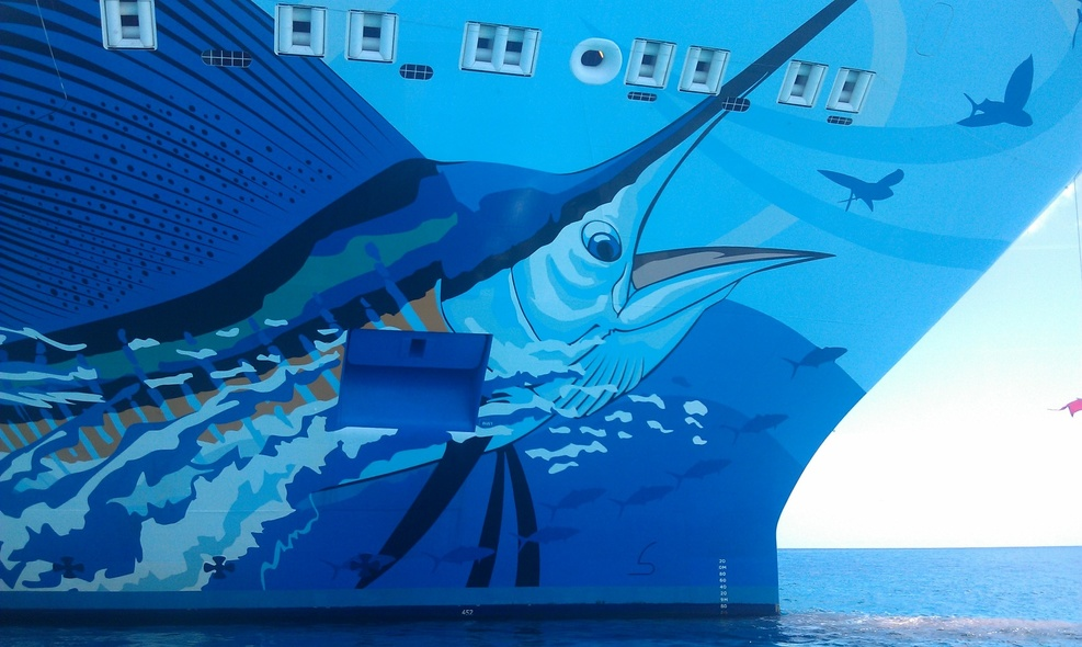 Guy Harvey Painting on the Ship