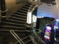 The stairway leading to the casino!