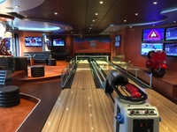 Bowling in the sports bar!