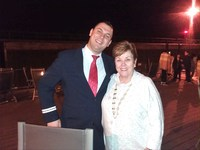 Brenda with Ivan our cruise director
