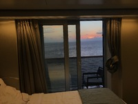 Sunset from the stateroom