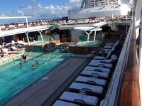 The biggest pool I have seen on a ship. The pool service was great, and the