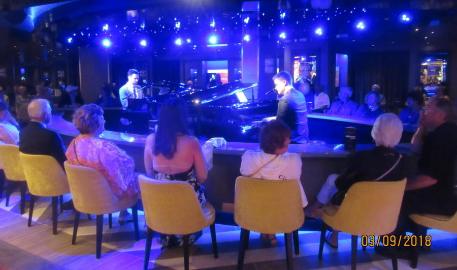 The new piano lounge opposite the casino. The two guys were very talented.