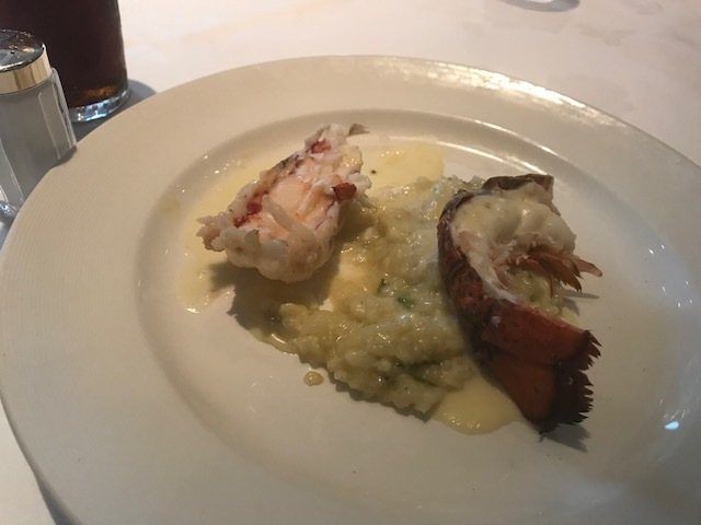 Lobster tails on one of the formal nights.