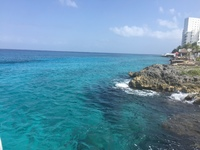 Our private island in Cozumel. Had to go down a ladder to get into water, b