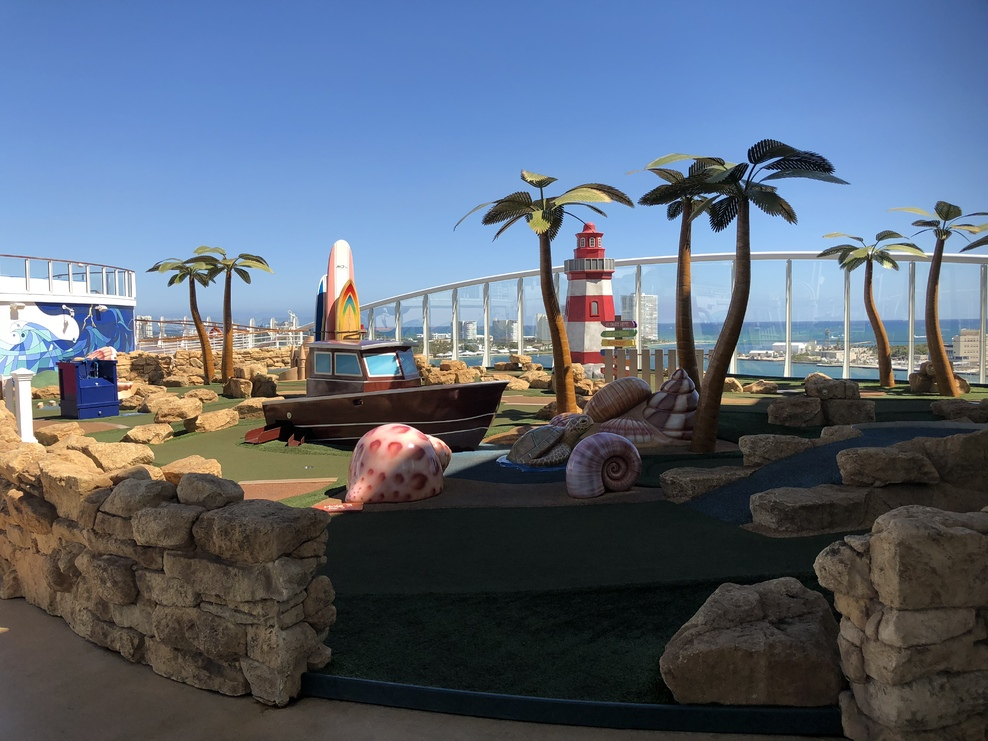Mini golf on the Harmony.