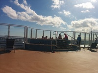One of several cantelever hot tubs on top deck, was very popular spot and great vantage point. There is a bar steps away when thirsty.