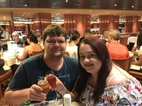 Celebrating first time on a cruise