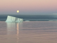 THIS WAS MOON OVER THE ICEBURG IF HAPPENED WHEN I WAS GOING TO THE DINING R