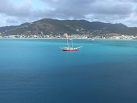 St Maarten from our room on the ship