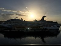 Carnival Cruise at port in the morning in San Juan