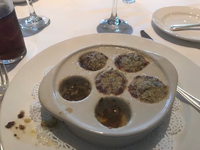 My first escargot - delicious!