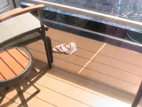 Embarrasing or what? Knickers on the balcony!