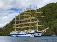 Star Clipper ship moored off Soufriere
