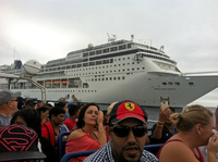 Leaving the ship to go to Portuguese Island
