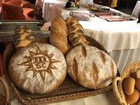 Breakfast breads on display