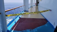 Promenade deck blocked off