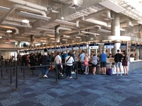 Fast Port of Miami check-in, no lineups, quick 15 minutes total time to boa