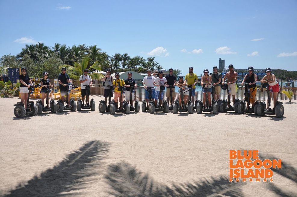 Segway tour on Blue lagoon Island Nassau