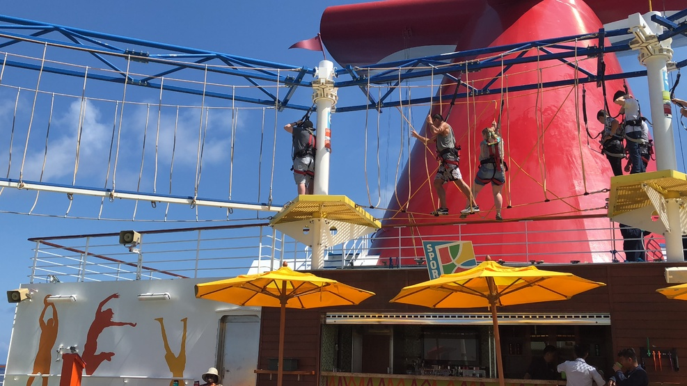 The ropes course in deck 12