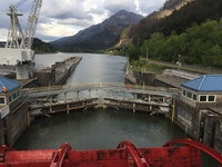 Leaving Bonneville lock