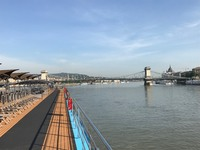 Approaching the Chain Bridge, Budapest