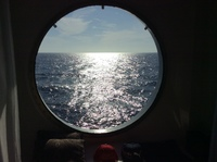 Our stateroom window.