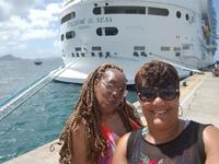 We at our first port, St. Kitts! Showing our ship. About to enjoy the water