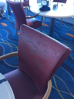 Chairs in the Oceanview Cafe