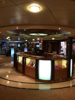 Shopping area on board