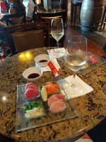 Sushi in the wine bar