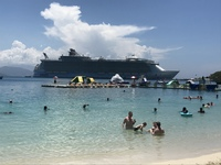 View from the beach in Labadee