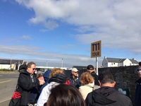 Kirkwall: The beginning of the very long outdoor line for T11 ticket holder