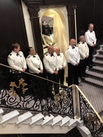 Ship's officers at Captain's Party.