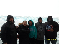 Us at the Yakutat Glacier. This was amazing