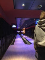 Bowling lanes in Bliss Lounge