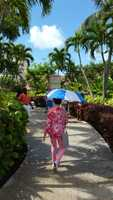On tour at the Atlantis - Paradise Island