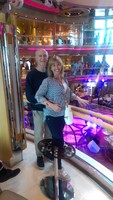 On the balcony of the Grandeur of the Seas!