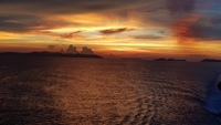 Sunset on board Carnival Spirit as we leave Koh Samui Thailand. on the Gulf