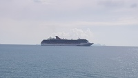 CARNIVAL SPIRIT off Koh Samui on the Gulf of Thsiland.
