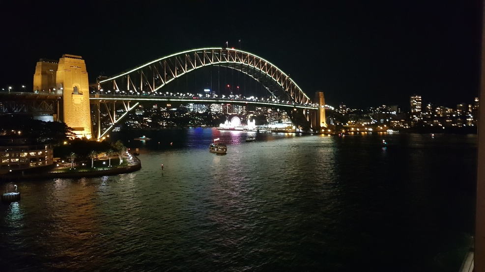 Sydney Harbor Bridge as we leave the OPT