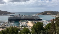 Koningsdam in port at Cartagena Spain
