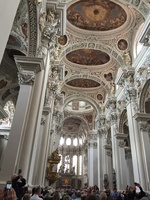One of the many cathedrals with very elaborate art in Passau.