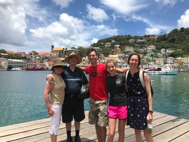 Our family on the Carenage in Grenada W.I.