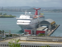 Carnival Fascination docked at San Juan