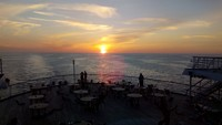 Sunset from the aft deck